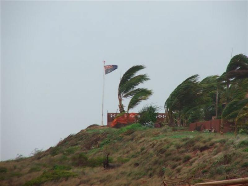 Cyclones - Cyclone Clare passed by Port Hedland in January 2006 - photo by Shane Baker -SportfishWorld &copy Copyright 2003 All rights reserved